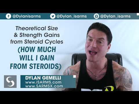 Theoretical size and strength gains from steroid cycles (How much